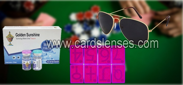 lentes de contacto luminosas y gafas de sol de tinta invisible para baraja marcada