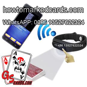 Reloj De La Cámara Poker Brazalete Con PK Rey Analizador De Póquer